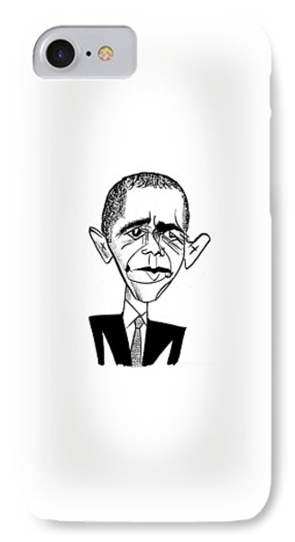 Barack Obama Suit & Tie IPhone Case by Tom Bachtell