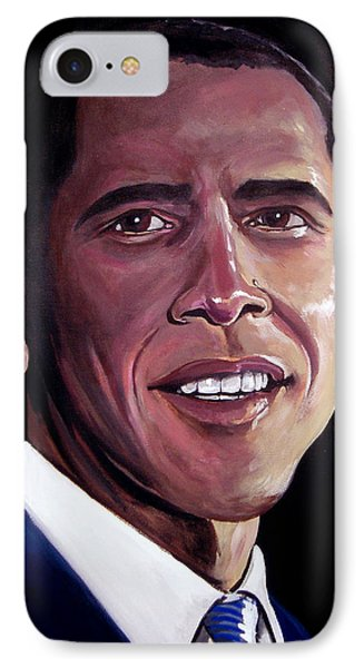 Barack Obama Phone Case by Tom Carlton