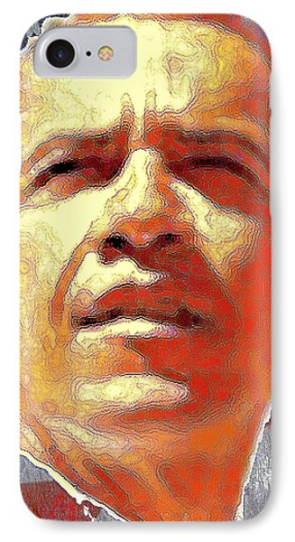 Barack Obama American President - Red White Blue IPhone Case
