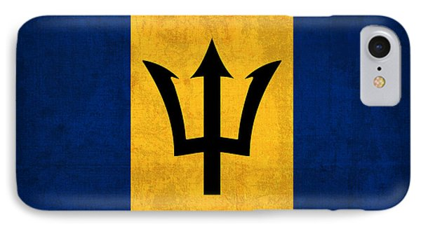 Barbados Flag Vintage Distressed Finish IPhone Case by Design Turnpike