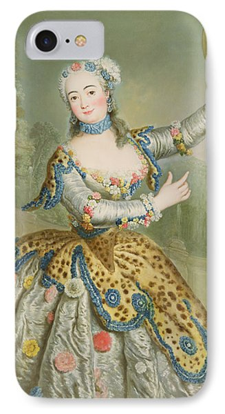 Barbara Campanini Oil On Canvas IPhone Case by Antoine Pesne