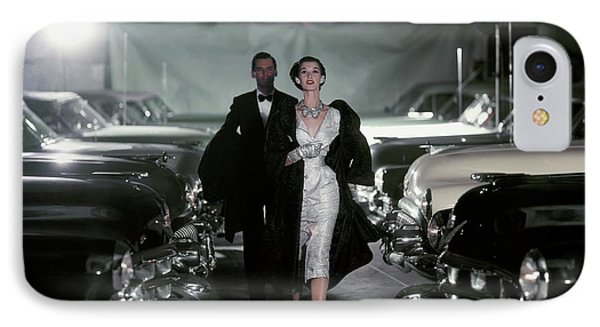 Barbara Mullen With Cars IPhone Case by John Rawlings