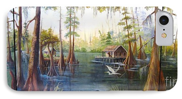 IPhone Case featuring the painting Barbaras Bayou by Barbara Haviland