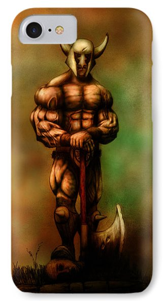 Barbarian King IPhone Case by Kim Gauge