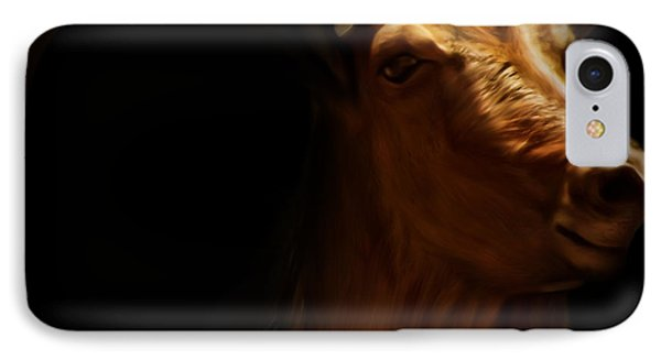 Barbary Sheep Portrait Phone Case by Lourry Legarde