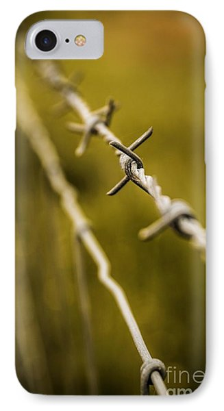Barbed Wire IPhone Case by Carlos Caetano