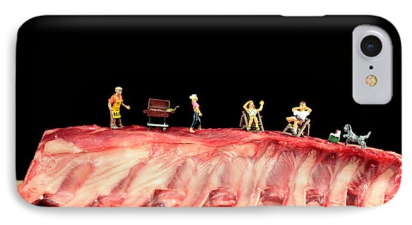 Barbecue On Lamb Ribs Phone Case by Paul Ge