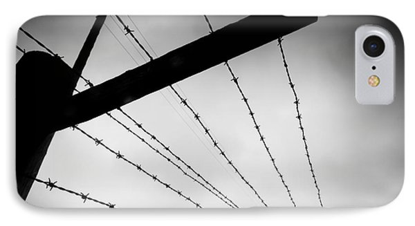 Barbed Wire Fence Phone Case by Michal Bednarek