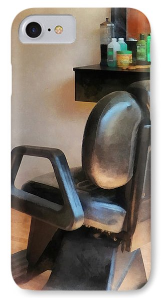 Barber - Barber Chair And Hair Supplies Phone Case by Susan Savad