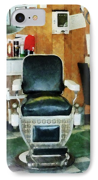Barber - Barber Chair Front View Phone Case by Susan Savad