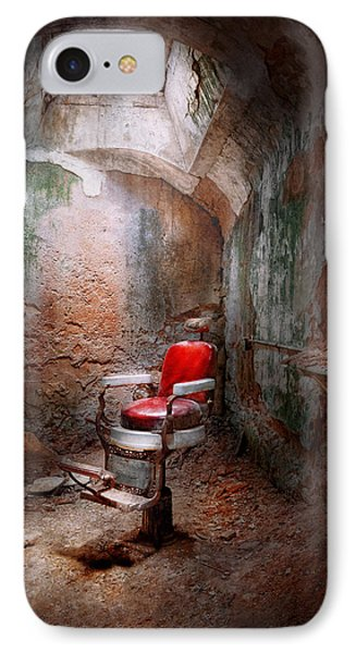 Barber - Eastern State Penitentiary - Remembering My Last Haircut  IPhone Case by Mike Savad