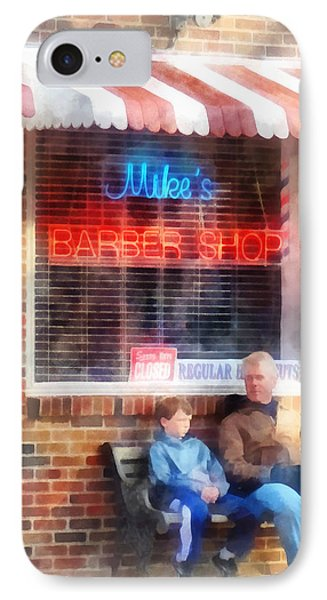 Barber - Neighborhood Barber Shop IPhone Case by Susan Savad