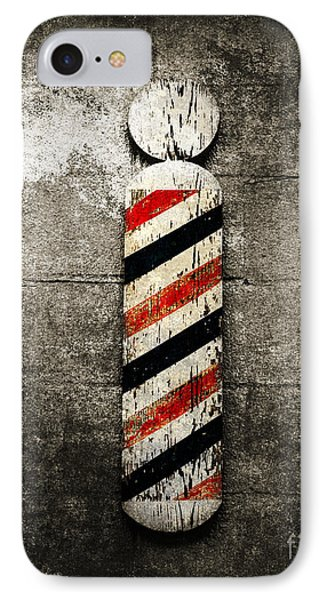 Barber Pole Selective Color IPhone Case by Andee Design