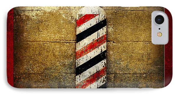 Barber Pole Square Phone Case by Andee Design