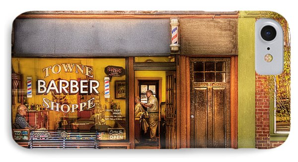 Barber - Towne Barber Shop Phone Case by Mike Savad