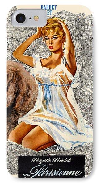 Barbet Art - Una Parisienne Movie Poster Phone Case by Sandra Sij