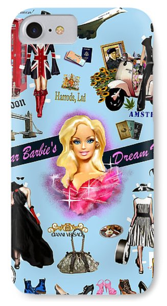 IPhone Case featuring the digital art Barbie's Superstar Dream Vacation by Jann Paxton