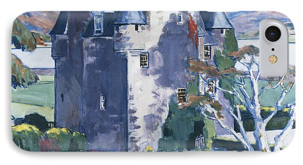 Barcaldine Castle IPhone Case by Francis Campbell Boileau Cadell