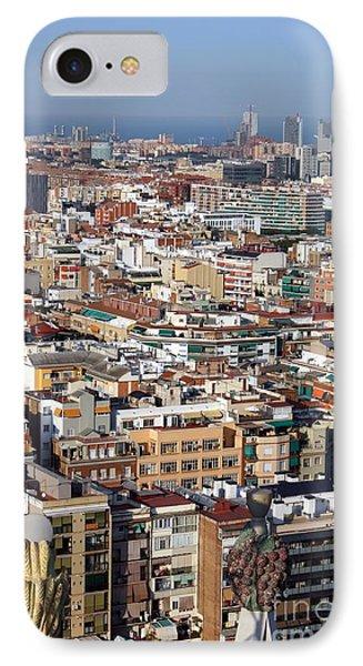 Barcelona Cityscape  Phone Case by Sophie Vigneault