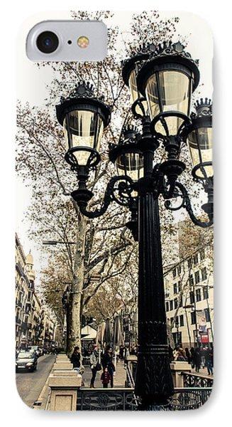 Barcelona - La Rambla IPhone Case by Andrea Mazzocchetti