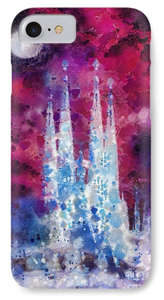 Barcelona Night IPhone Case by Mo T
