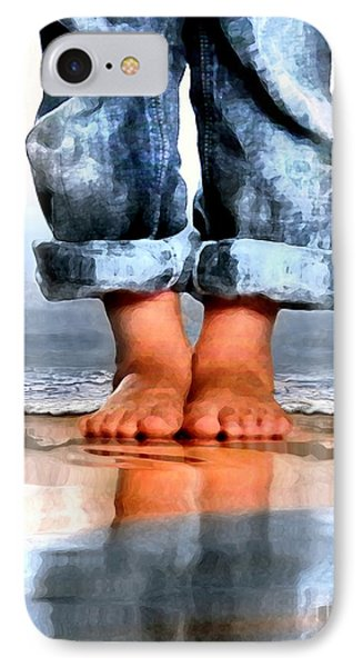 Barefoot Boy   IPhone Case by Dale   Ford