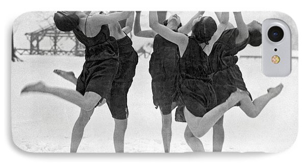 Barefoot Dance In The Snow IPhone Case by Underwood
