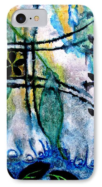 Barefoot In The Garden IPhone Case by Maria Huntley