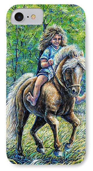 Barefoot Rider IPhone Case by Gail Butler