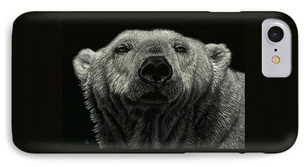 IPhone Case featuring the drawing Barely Awake by Sandra LaFaut