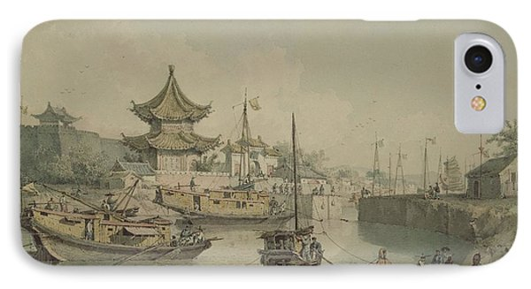 Barges Of Lord Macartneys Embassy To China IPhone Case by William Alexander
