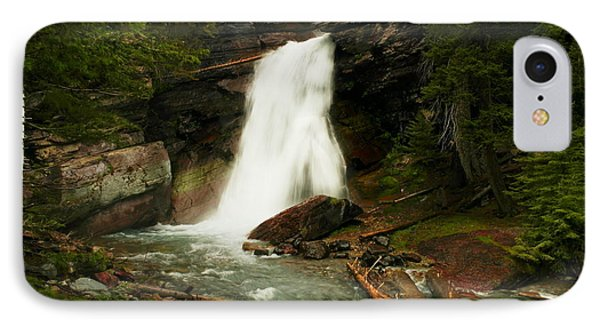 Baring Falls Glacier National Park Montana Phone Case by Jeff Swan