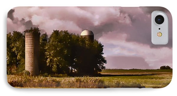 Barn And 2 Silos IPhone Case by Greg Jackson