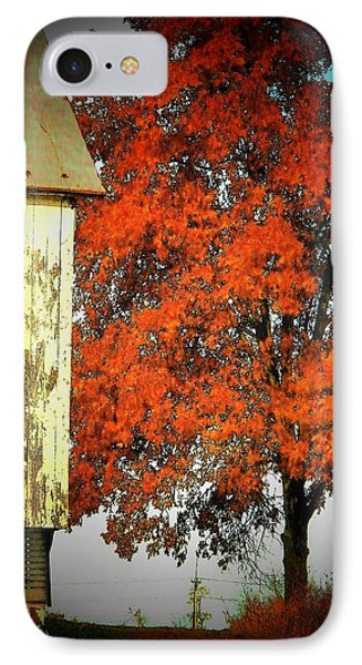 Barn And Autumn Tree IPhone Case