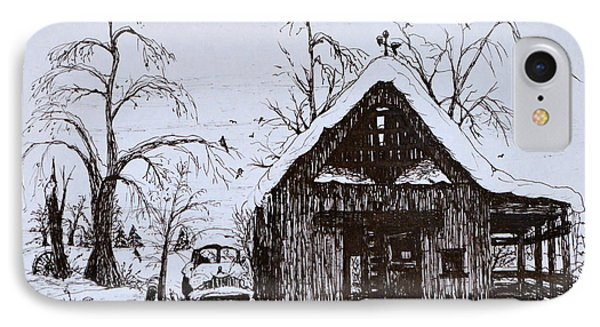 Barn And Car IPhone Case