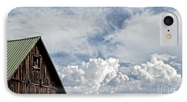 IPhone Case featuring the photograph Barn And Clouds by Joseph J Stevens