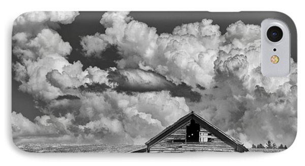 Barn And Clouds IPhone Case by Latah Trail Foundation