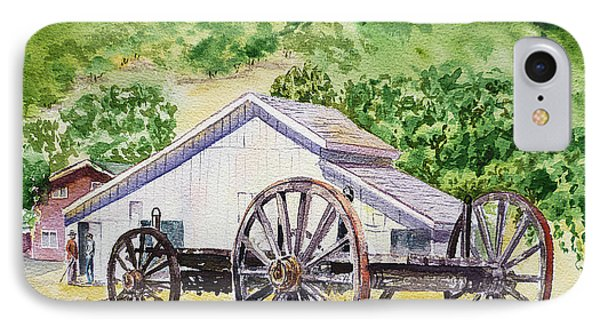 Barn And Old Wagon At Eugene O Neill Tao House IPhone Case