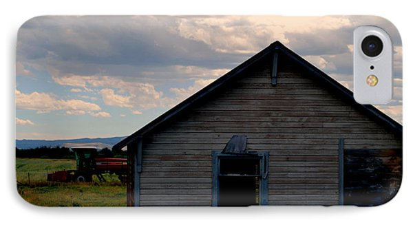 Barn And Tractor IPhone Case by Matt Harang