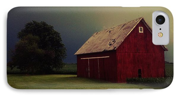 Barn And Tree IPhone Case by Tim Good
