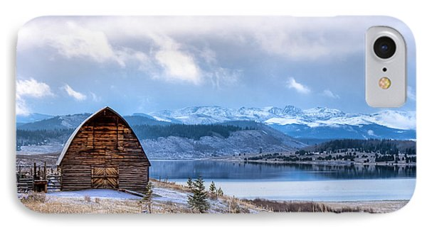 Barn At The Lake IPhone Case by John McArthur