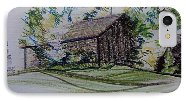 Old Barn At Wason Pond IPhone Case by Sean Connolly