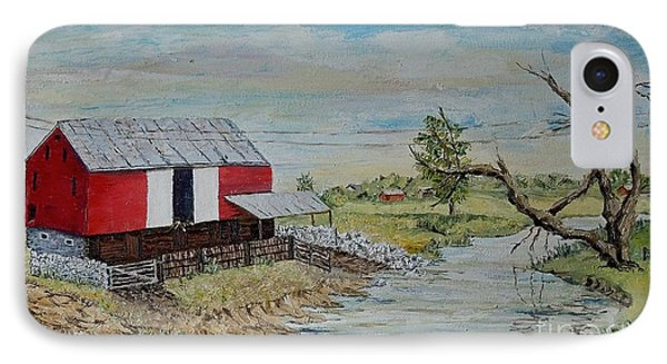 Barn Beside Cooks Creek 2 - Sold IPhone Case by Judith Espinoza