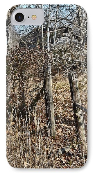 IPhone Case featuring the photograph Barn Beyond The Fence Row by Greg Jackson