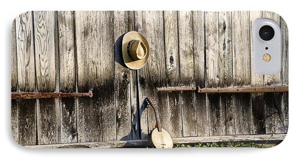 Barn Door And Banjo Mandolin Phone Case by Bill Cannon