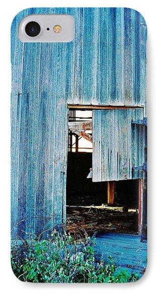 Barn Door... Monroe Co. Michigan IPhone Case by Daniel Thompson