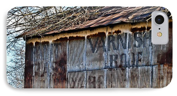 Barn Ghost Sign 1 IPhone Case by Greg Jackson