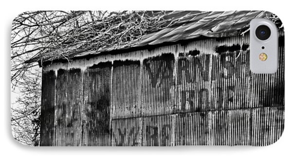 IPhone Case featuring the photograph Barn Ghost Sign In Bw by Greg Jackson