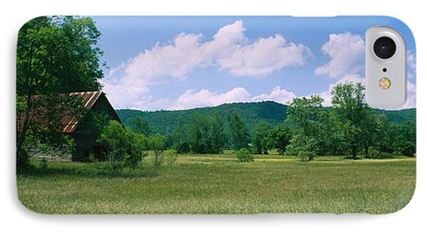 Barn In A Field, Cades Cove, Great IPhone Case by Panoramic Images