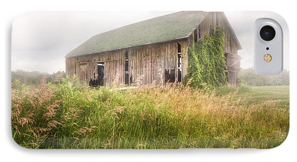 IPhone Case featuring the photograph Barn In A Misty Field by Gary Heller